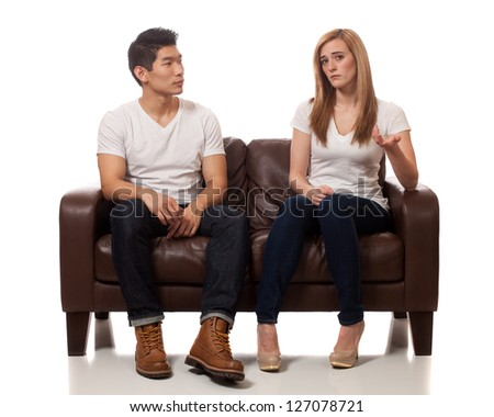 Young Couple on Sofa