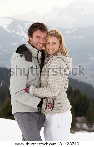 Young Couple On Winter Vacation - stock photo