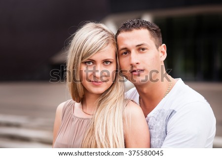 Young couple portrait. - stock photo