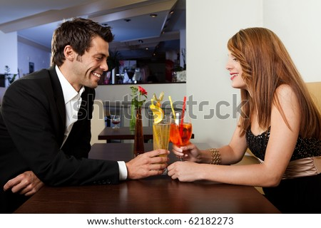 Young couple spending time together - stock photo