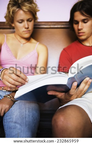 Young Couple Studying Together - stock photo