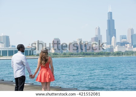 Young Couple With Hands Held Forever - stock photo