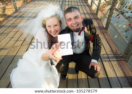 Young couple won the lottery - stock photo
