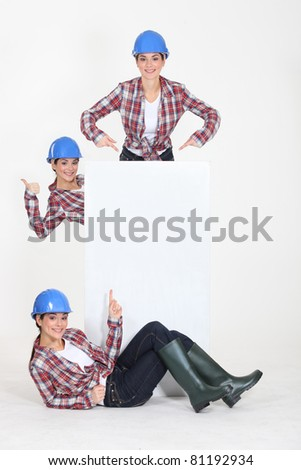young craftswoman - stock photo