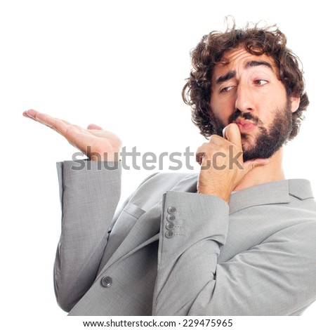 young crazy man - stock photo