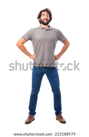 young crazy man challenge concept - stock photo