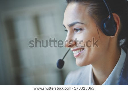 Young customer support representative - stock photo