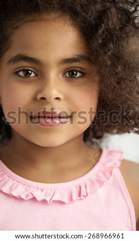 Young cute girl  - stock photo