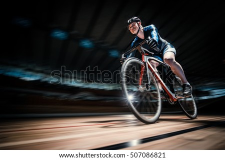 Young cyclist on a cycle track