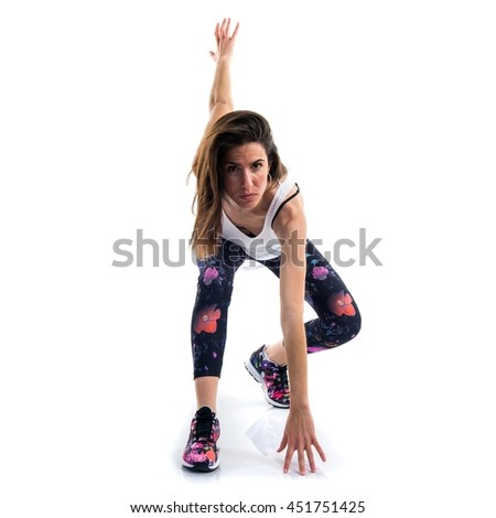 Young dancer girl - stock photo