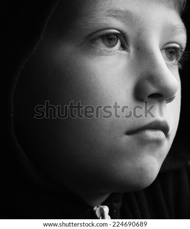 Young Depression - stock photo