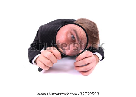 young detective - stock photo