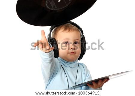 Young DJ - stock photo