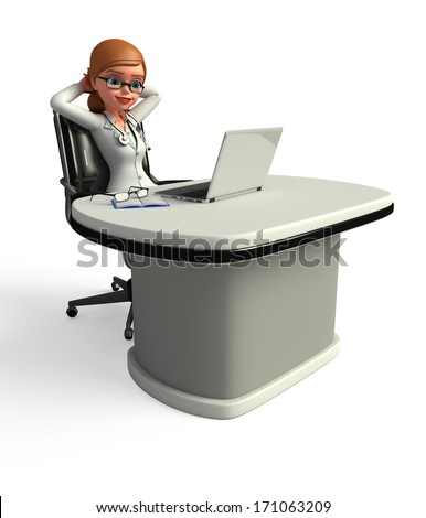 Young doctor is relaxing - stock photo