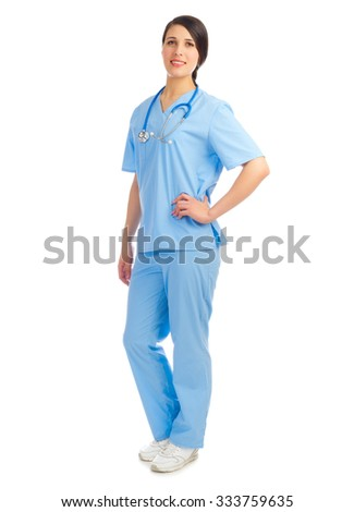 Young doctor isolated on white background - stock photo