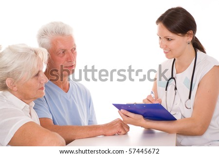 young doctor testing couple.JPG - stock photo