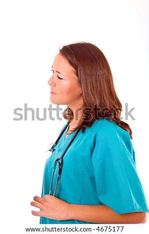 young doctor woman on her hospital office