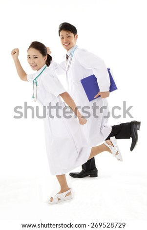 Young doctors and nurses - stock photo