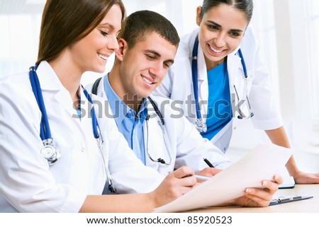 Young doctors discuss medical history