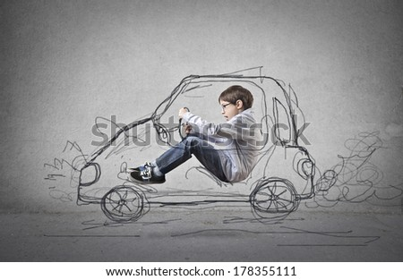 young driver - stock photo