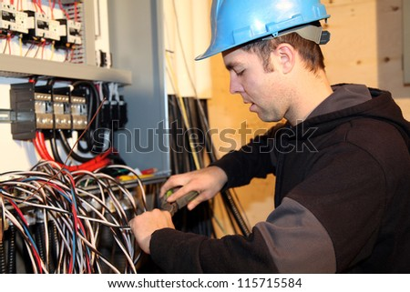 Young Electrician Work Stock Photo 115715584 - Shutterstock