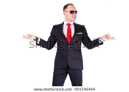Young Elegant Stylish Business Man Black Stock Photo 401546464 ...