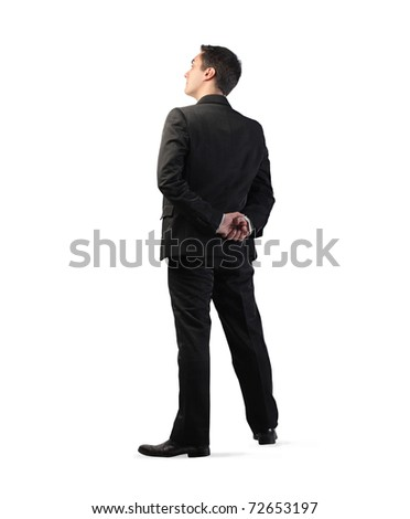 Young elegant businessman - stock photo