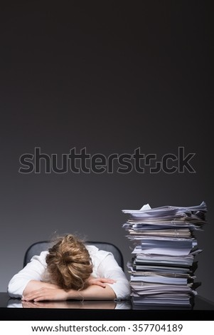 Young emploee has lost motivation to work - stock photo