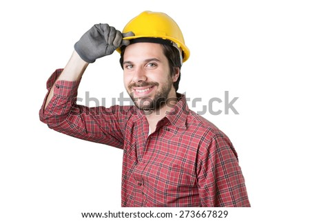 young engineer man smiling