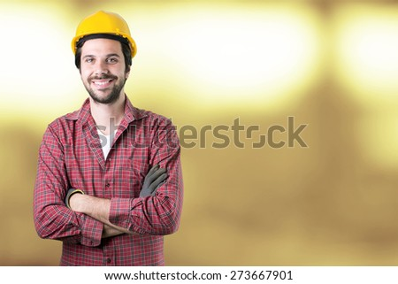 young engineer man smiling - stock photo