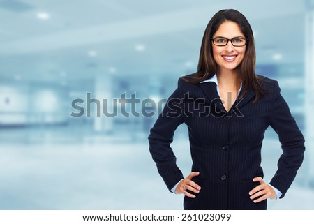 Young executive Business woman. Success and education background. - stock photo
