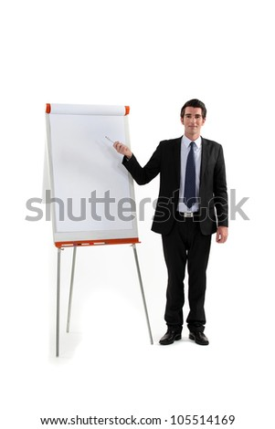 young executive making presentation - stock photo