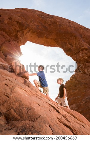 Young Explorers (Vertical) - stock photo