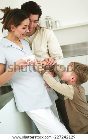 Young family - stock photo