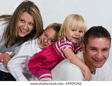 Young Family Enjoy the Time Together