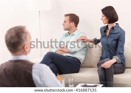 Young family has problems in marriage - stock photo