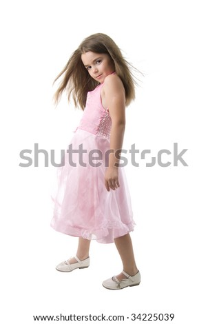Young Fashion Model. Isolated On White Background.