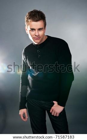 Young fashion model. Studio shot - stock photo