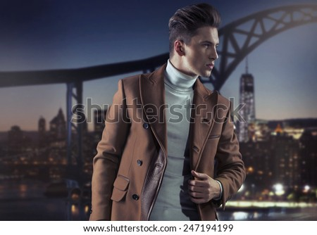Young fashionable men - stock photo