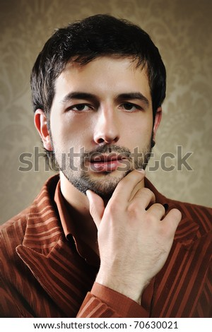 stock photo young fashionable stylish man with a short