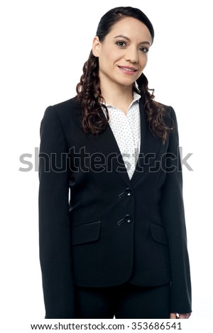 Young female executive posing to the camera - stock photo