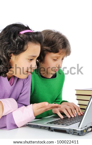 Young female friends on laptop