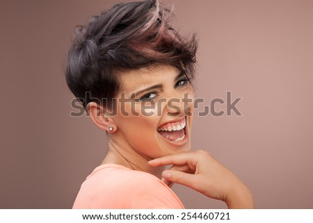 Young female hairstyle - stock photo