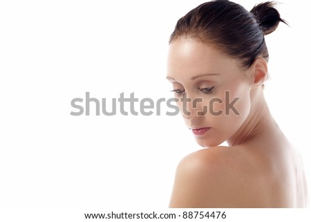 Young female model in beauty style pose