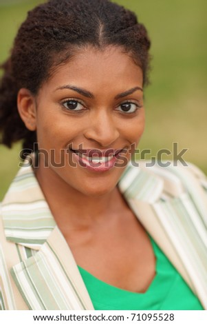 Young female smiling - stock photo