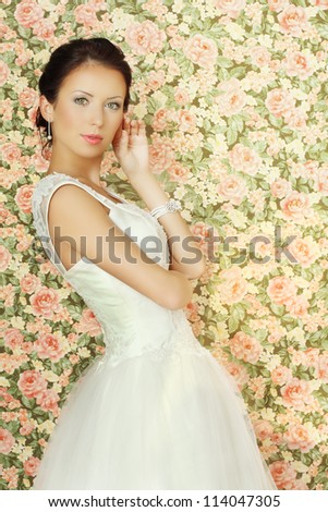 Young fiancee - glamour beauty - stock photo
