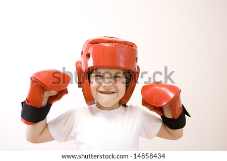 young fighter-girl
