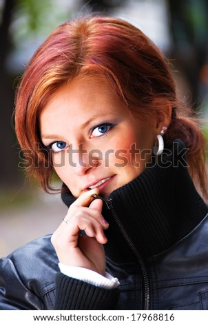 young finnish female model - stock photo