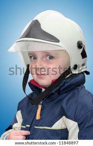Young fireman - stock photo