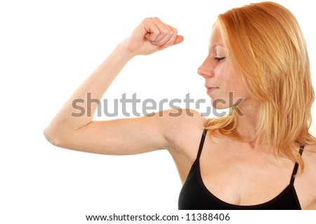 young fit and strength woman